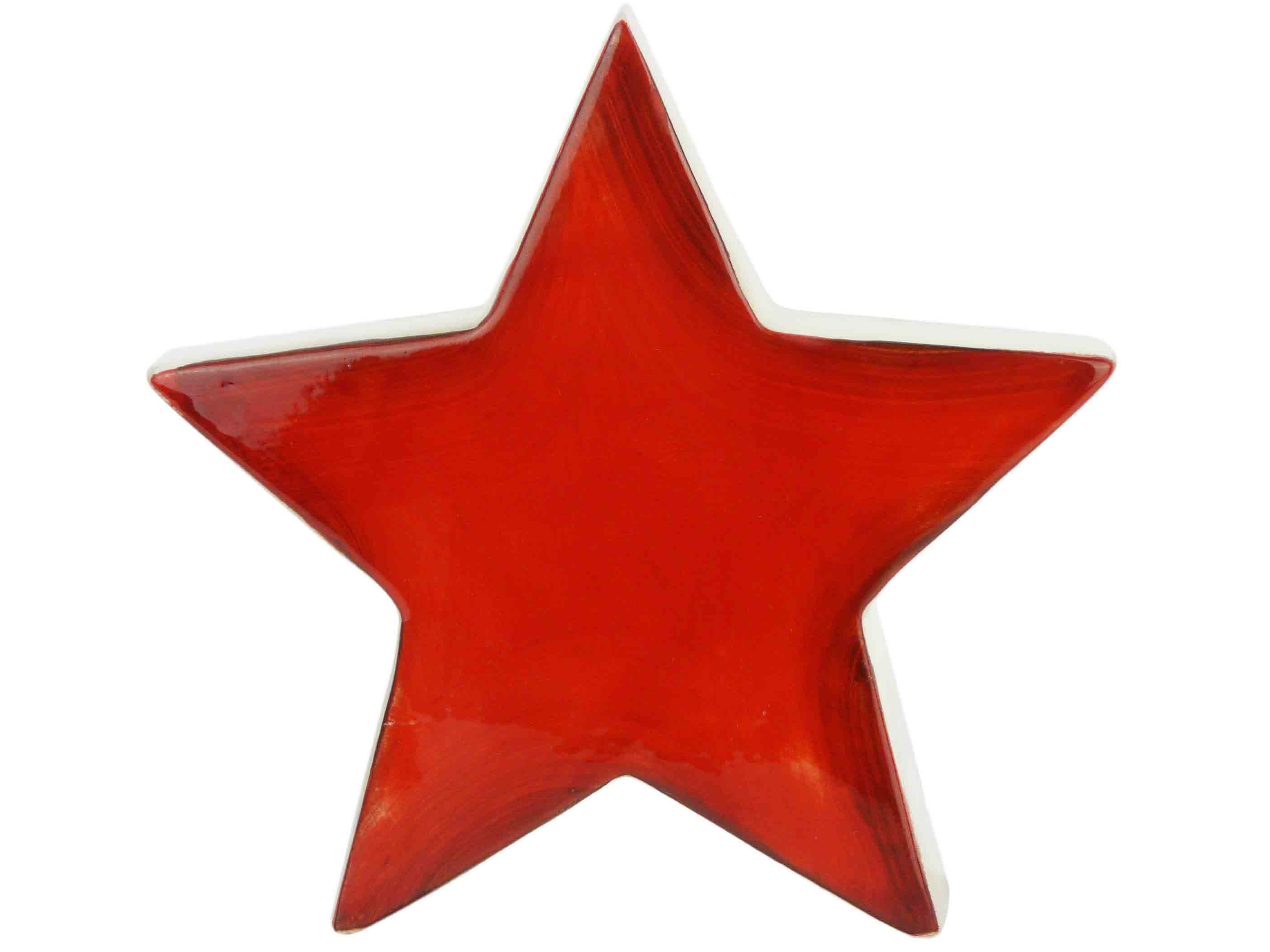 Stern Weihnachten.Details Zu Roter Stern Keramik Weihnachtsstern Deko Weihnachten Geschenkidee Keramikfigur